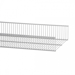 Wire Shelf Basket 90cm, platinum