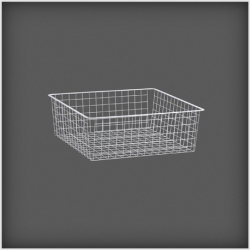 Wire Drawer 527x527x185, white