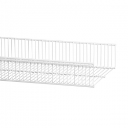 Wire Shelf Basket 607mm, white