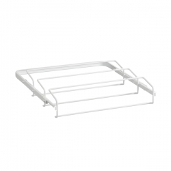 45cm Gliding Shoe Rack, white