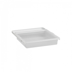 Gliding solid drawer, white