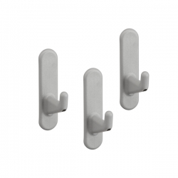 Board Hook Short 3 pcs, platinum