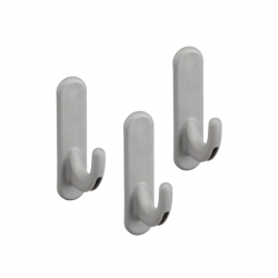 Board Hook Curve 3 pcs, platinum