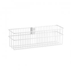 Large Wire Basket 134x140x435mm, white