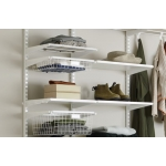 Click-in melamine shelf