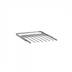 Gliding Pant Racks 436mm, platinum